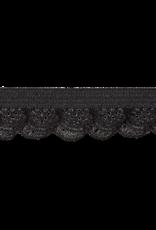 Elastiek kant zwart 15mm