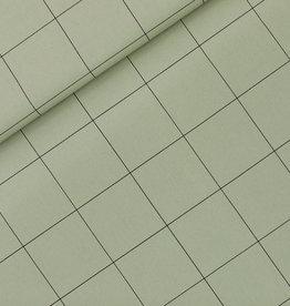 SYAS Thin grid XL cotton canvas gabardine