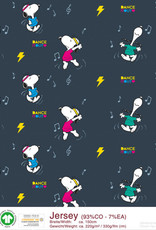 Peanuts Snoopy Dance it out navy