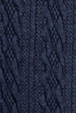 Gebreide kabel donkerblauw