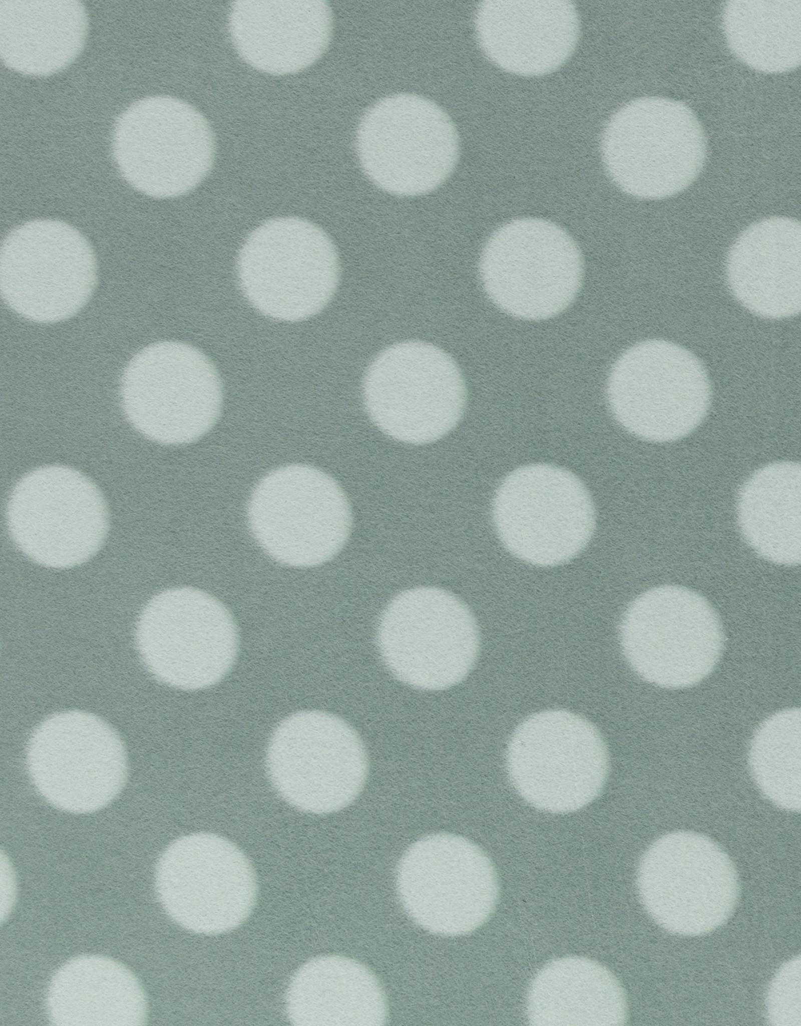 Fleece dots emerald/mint green