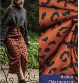 FM Alida denim leopard print brown black