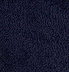 Plush fur double face dark blue