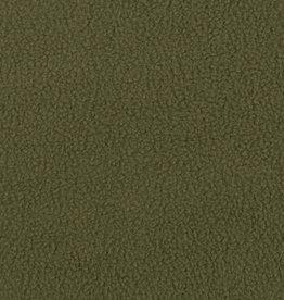 Plush fur double face khaki green