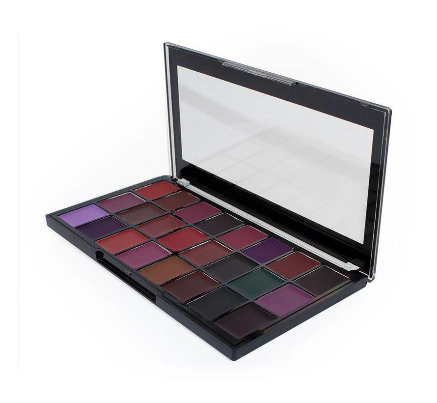 Pro Lipstick Palette x 24 - Noir