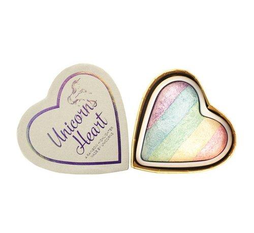 I Heart Revolution Hearts - Unicorns Heart - Regenboog Highlighter