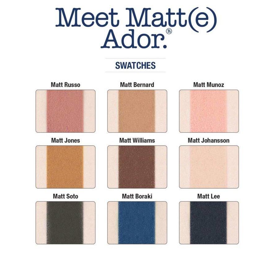 Meet Matt(e) Ador - Oogschaduw Palette
