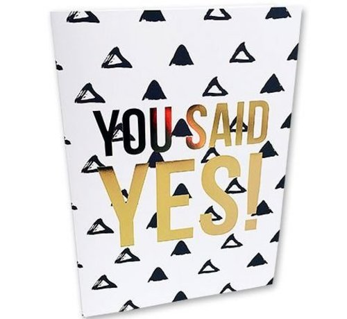 Studio Stationery Greeting Card You Said Yes
