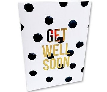 Studio Stationery Greeting Card Get Well Soon