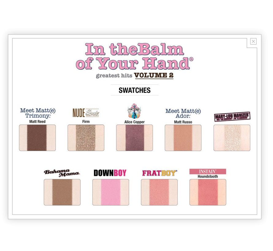 In theBalm of Your Hand Vol. 2 Palette