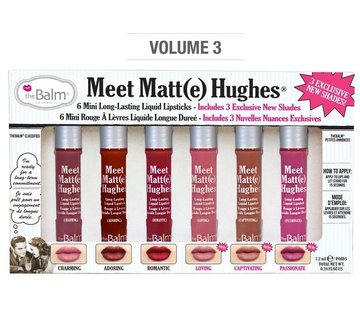 theBalm Meet Matt(e) Hughes Mini Liquid Lipsticks Set - Vol. 3