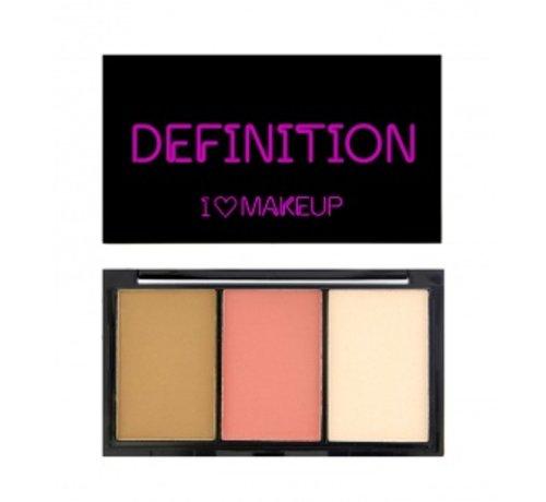 Makeup Revolution I Heart Definition - Fair - Contourkit