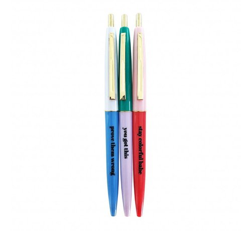 Studio Stationery Ballpen Set - Stay Colorful
