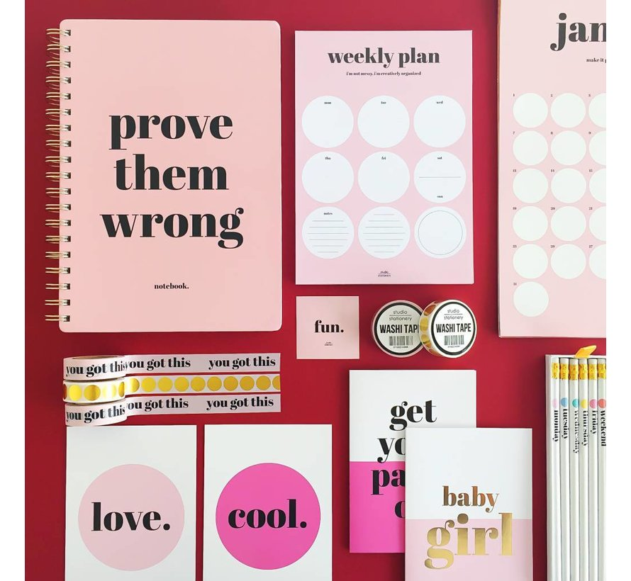 Weekly Plan Pink Rounds