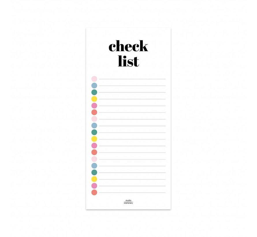 Stationery Noteblock Checklist