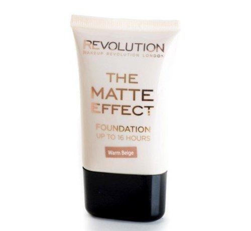 Makeup Revolution Matte Foundation - Warm Beige - Foundation