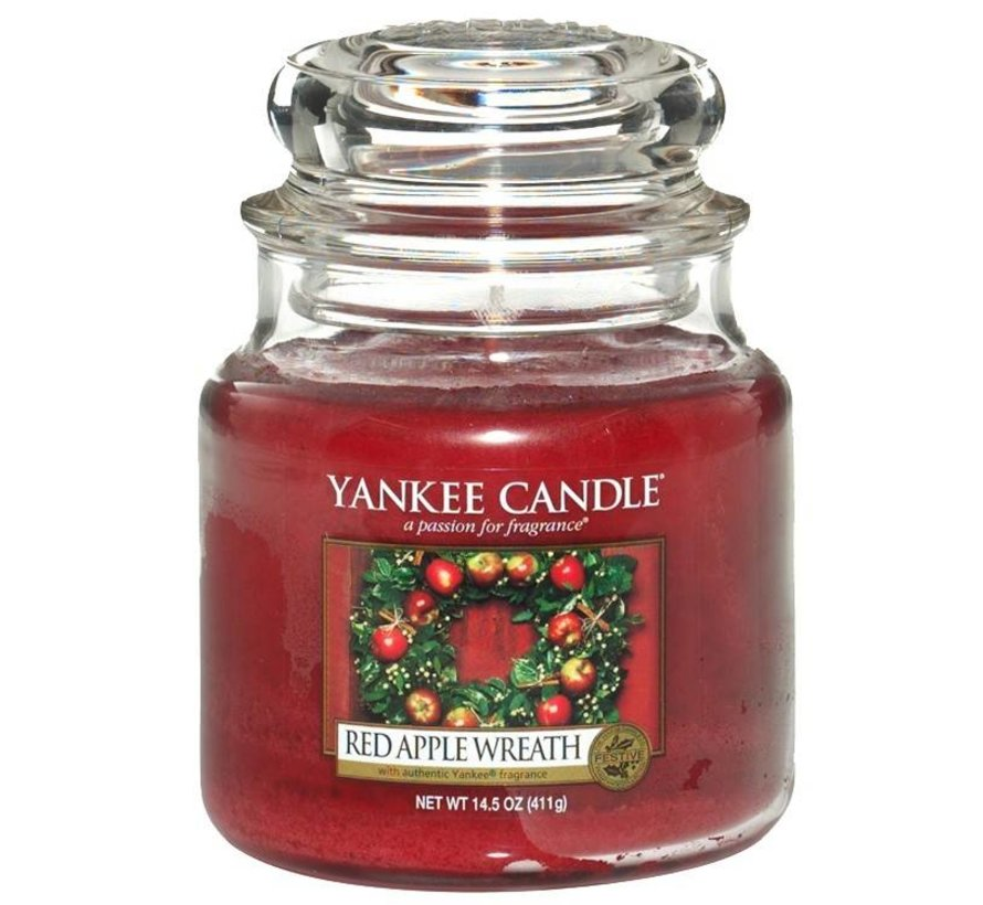 Red Apple Wreath - Medium Jar