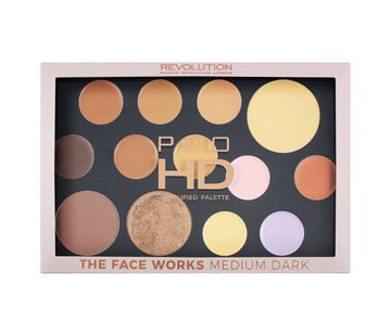 Makeup Revolution HD Pro Palette The Works - Medium/Dark