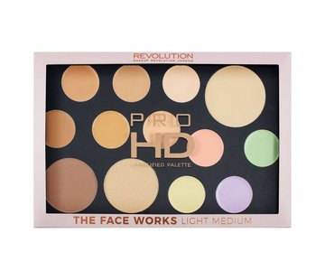 Makeup Revolution HD Pro Palette The Works - Light/Medium