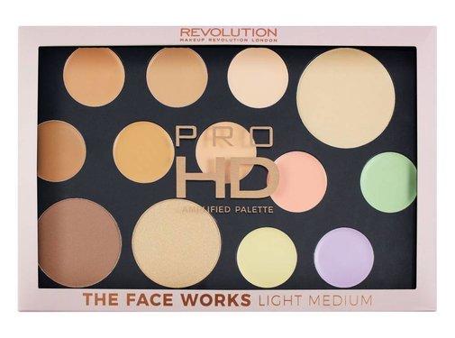 Makeup Revolution HD Pro Palette The Works - Light/Medium
