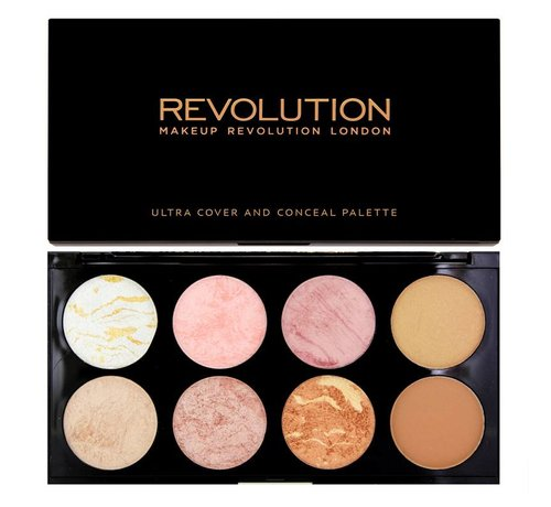 Makeup Revolution Ultra Blush & Contour Palette - Golden Sugar - Blush Palette