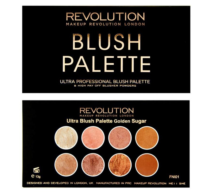 Ultra Blush & Contour Palette - Golden Sugar - Blush Palette