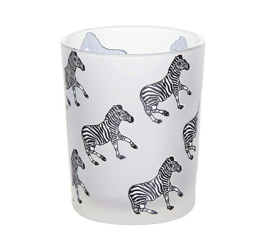 White Zebra Votive Holder