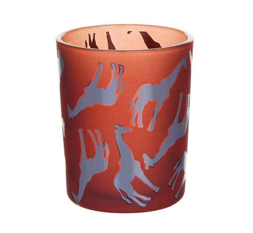 Maroon Giraffe Votive Holder