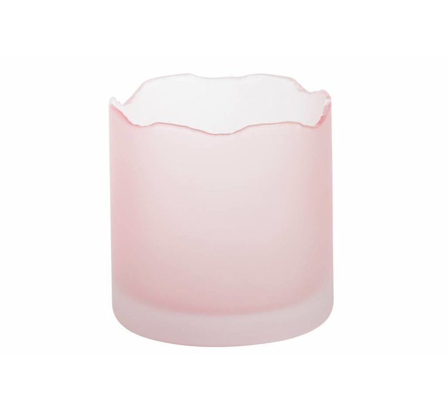 Tranquillity Wave Pink Votive Holder