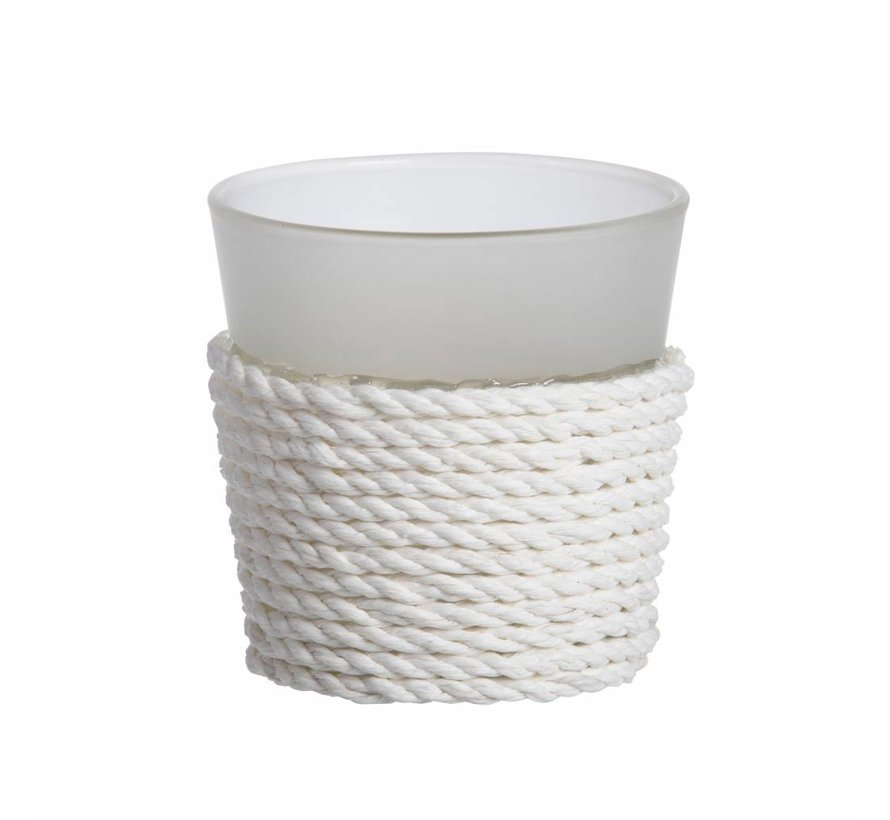 Beach House White Votive Holder