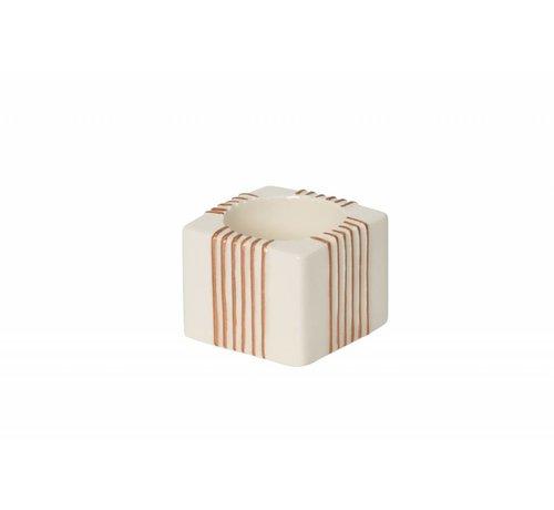Yankee Candle Jackson Frost Tea Light Holder  - Stripes