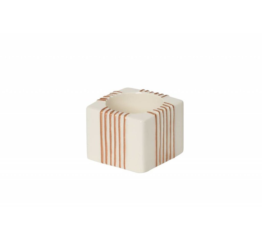 Jackson Frost Tea Light Holder  - Stripes