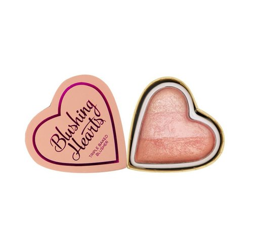Makeup Revolution Blushing Hearts Blusher Peachy Pink Kisses - Blusher