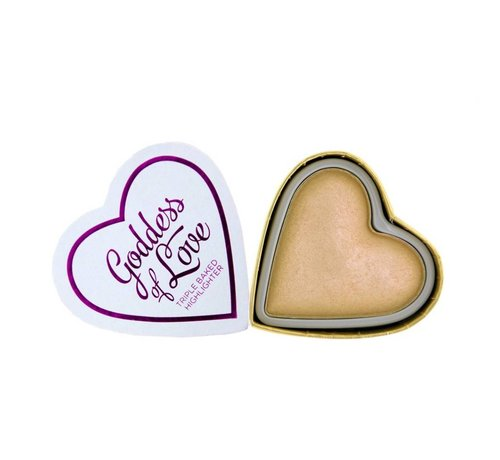 Makeup Revolution Hearts Highlighter - Golden Goddess