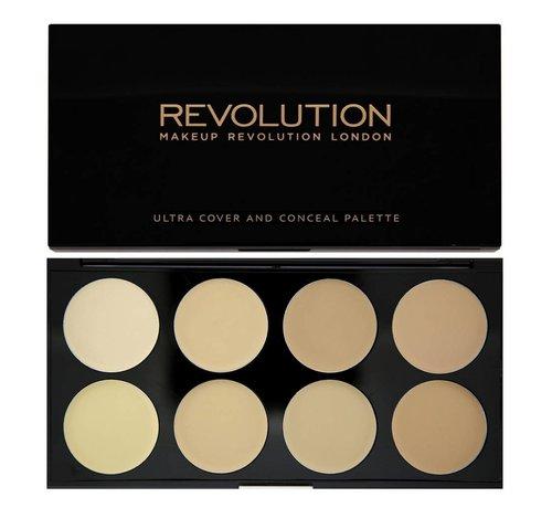 Makeup Revolution Ultra Cover and Concealer Palette - Light - Concealer