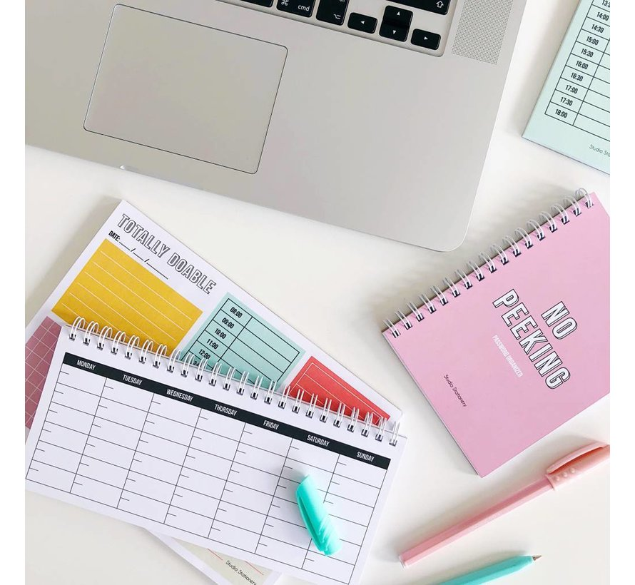 Stationery Noteblock Totally Doable - Daily Plan