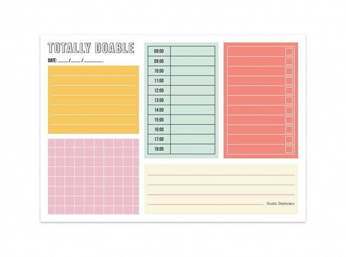 Studio Stationery Noteblock Totally Doable - Daily Plan
