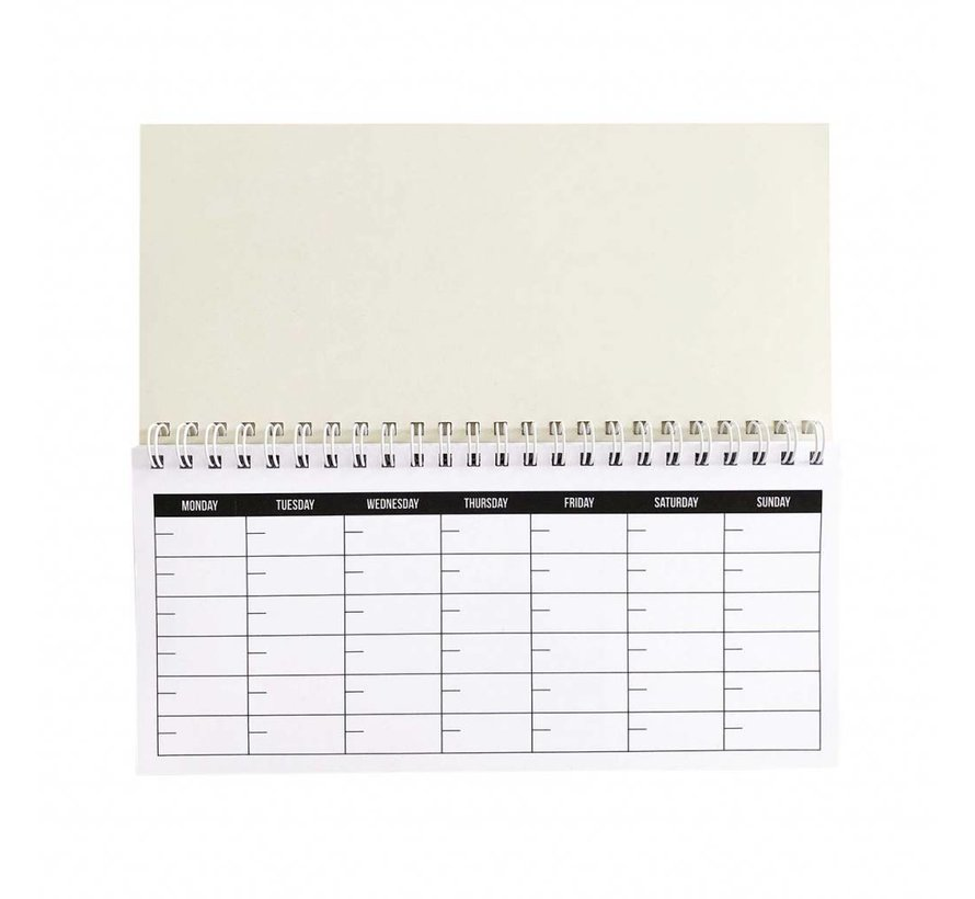 Stationery Notebook - Monthly Plan