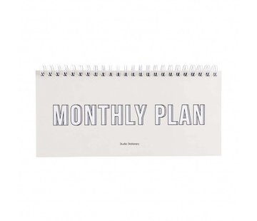 Studio Stationery Notebook - Monthly Plan