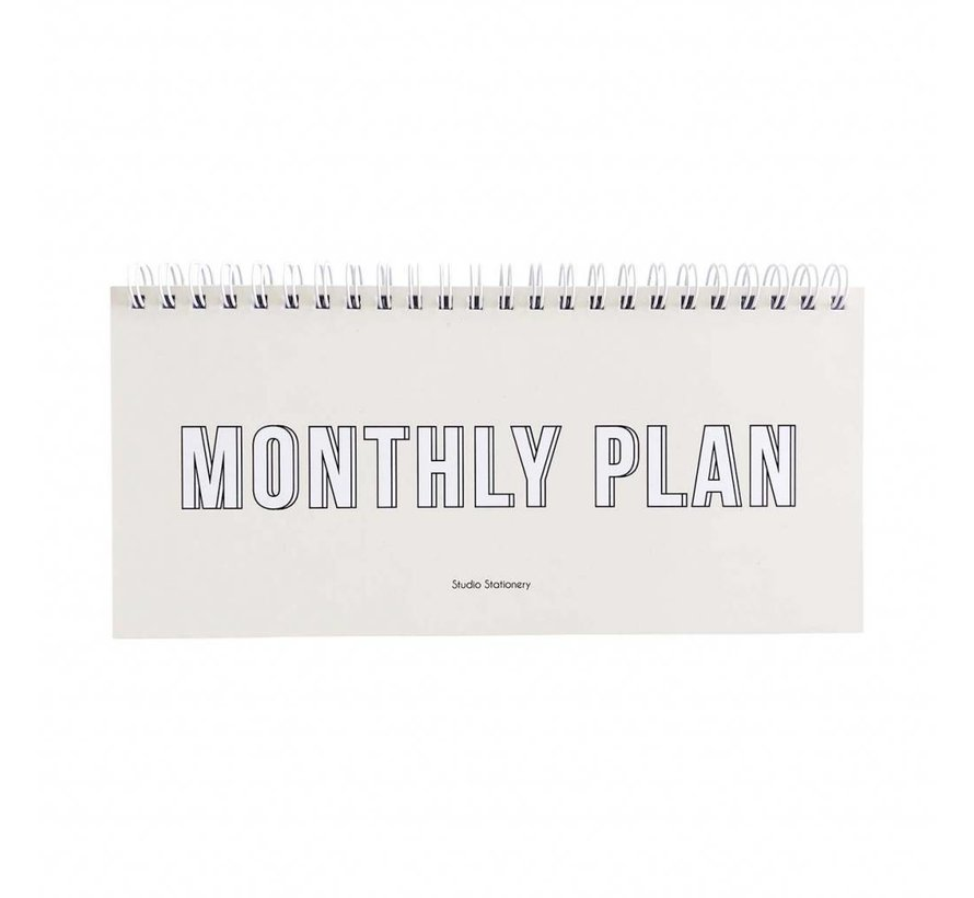 Notebook - Monthly Plan