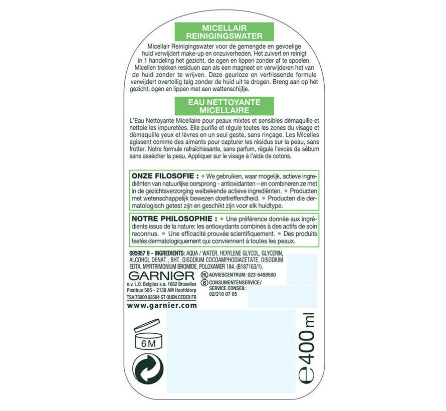 Skinactive Micellair Reinigingswater Gevoelige & Gemengde Huid - 400 ml