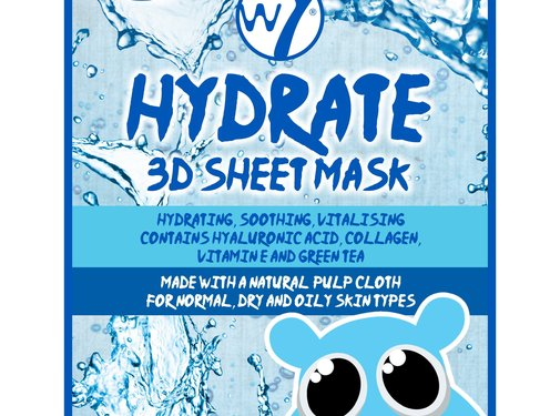 W7 Make-Up Hydrate 3D Sheet Face Mask