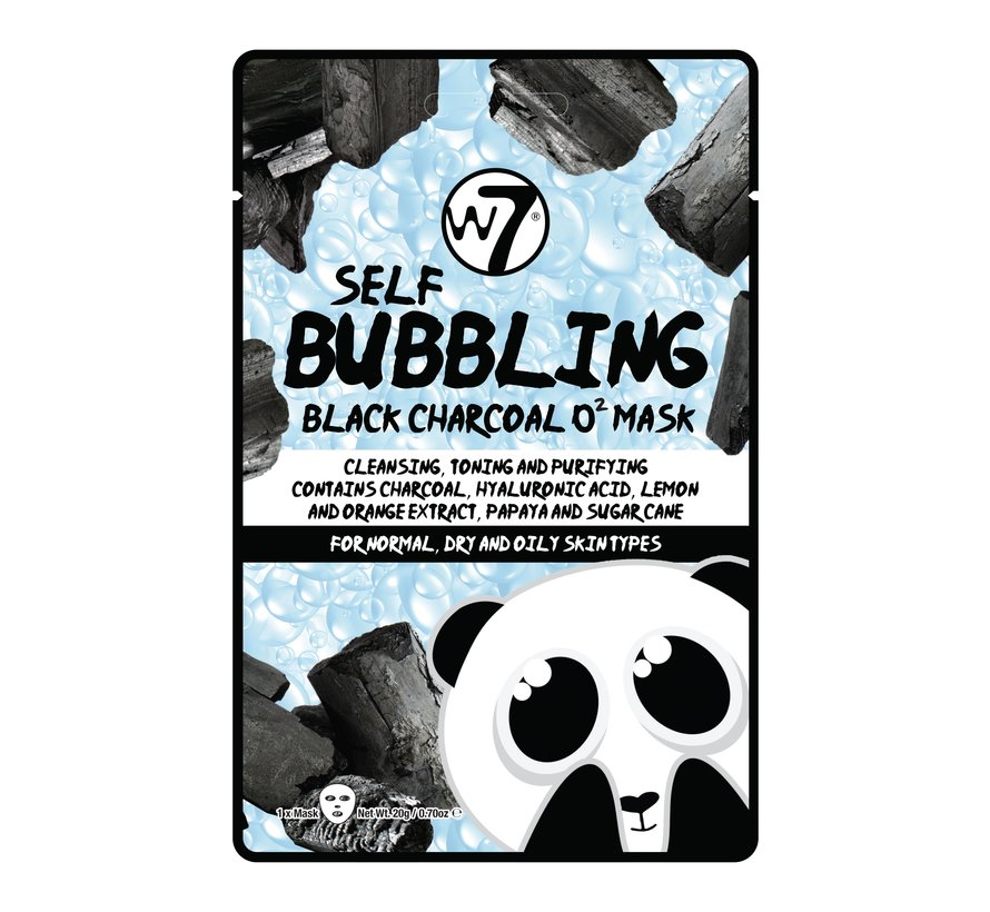 Self-Bubbling Black Charcoal O2 Face Mask