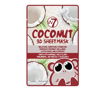 W7 Make-Up Coconut 3D Sheet Face Mask