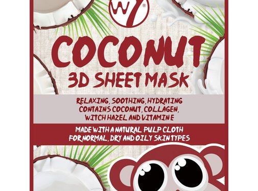 W7 Make-Up Coconut 3D Sheet Face Mask