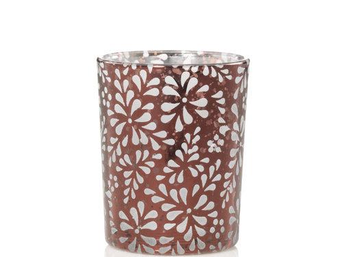 Yankee Candle Sheridan Pressed Glass Flower Votive Holder