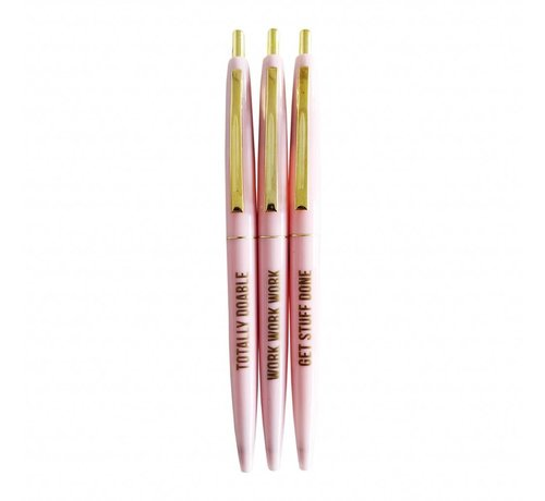 Studio Stationery Ballpen Set - Pretty Pink