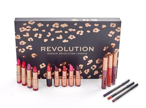 Makeup Revolution Lip Revolution Set - Reds