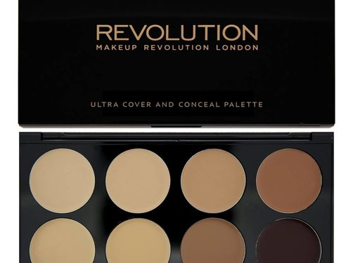 Makeup Revolution Ultra Cover and Concealer Palette - Medium/Dark