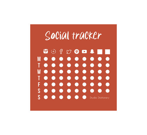 Studio Stationery Noteblock Mini Social Tracker